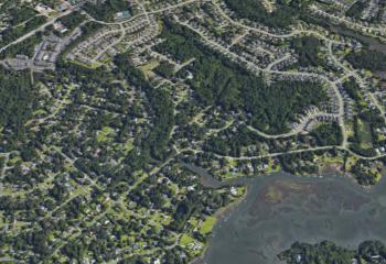 bayshore aerial view